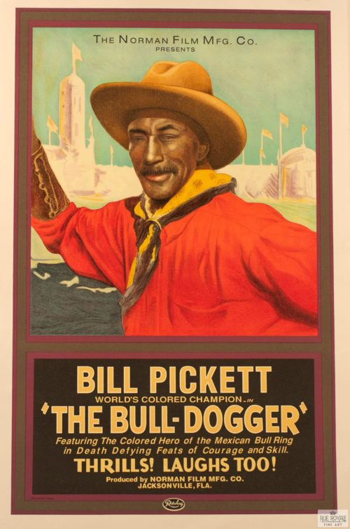 bill pickett bull riding rodeo vintage movie poster original classic movie poster golden age of hollywood vintage one-sheet