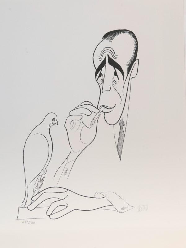 Al Hirschfeld master of line new yorker cartoon celebrity art Humphrey Bogart Maltese Falcon