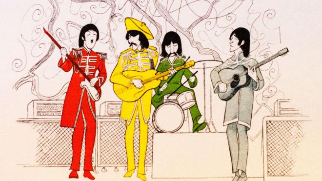 The Beatles Suite (5 images), Al Hirschfeld