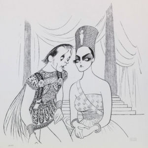 Al Hirschfeld master of line new yorker cartoon celebrity art Elizabeth Taylor Richard Burton Antony and Cleopatra