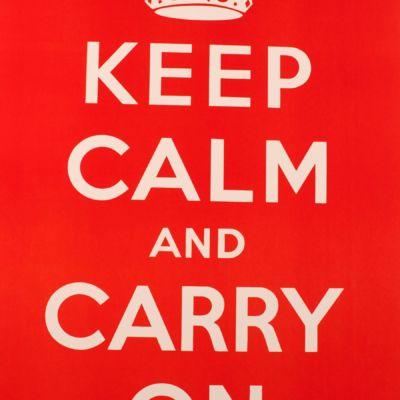fine art lithograph keep calm carry on