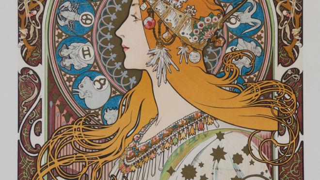 Zodiaque Var.2 (calendar grid), Alphonse Mucha