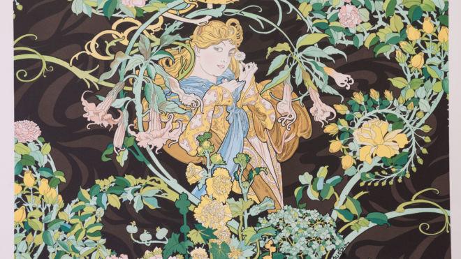 Woman with Flowers, Alphonse Mucha
