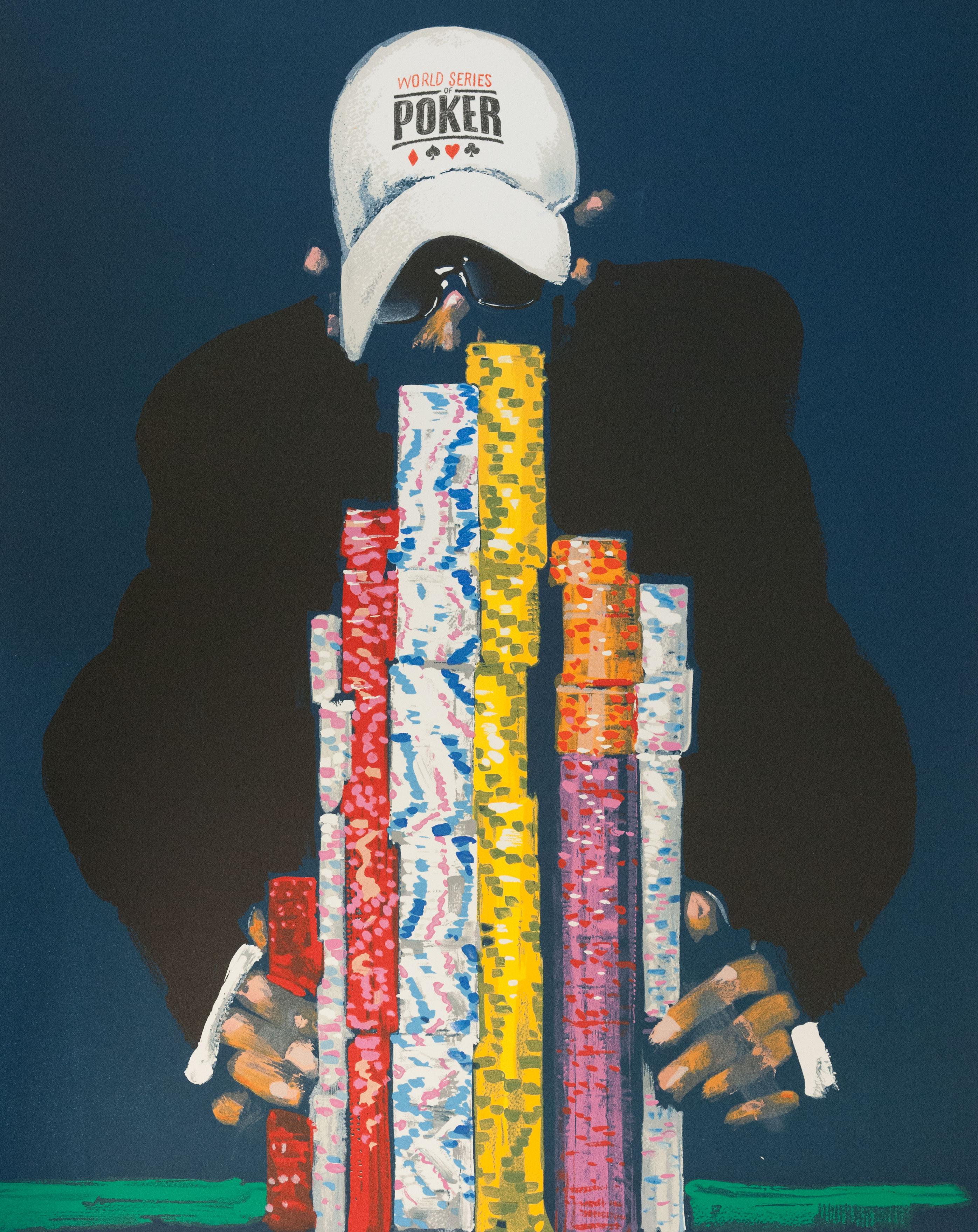 Waldemar Swierzy gangster art fine art lithograph poker chips gambling las vegas polish artist world series of poker