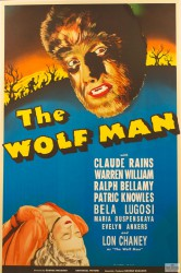 Classic horror film, The Wolfman