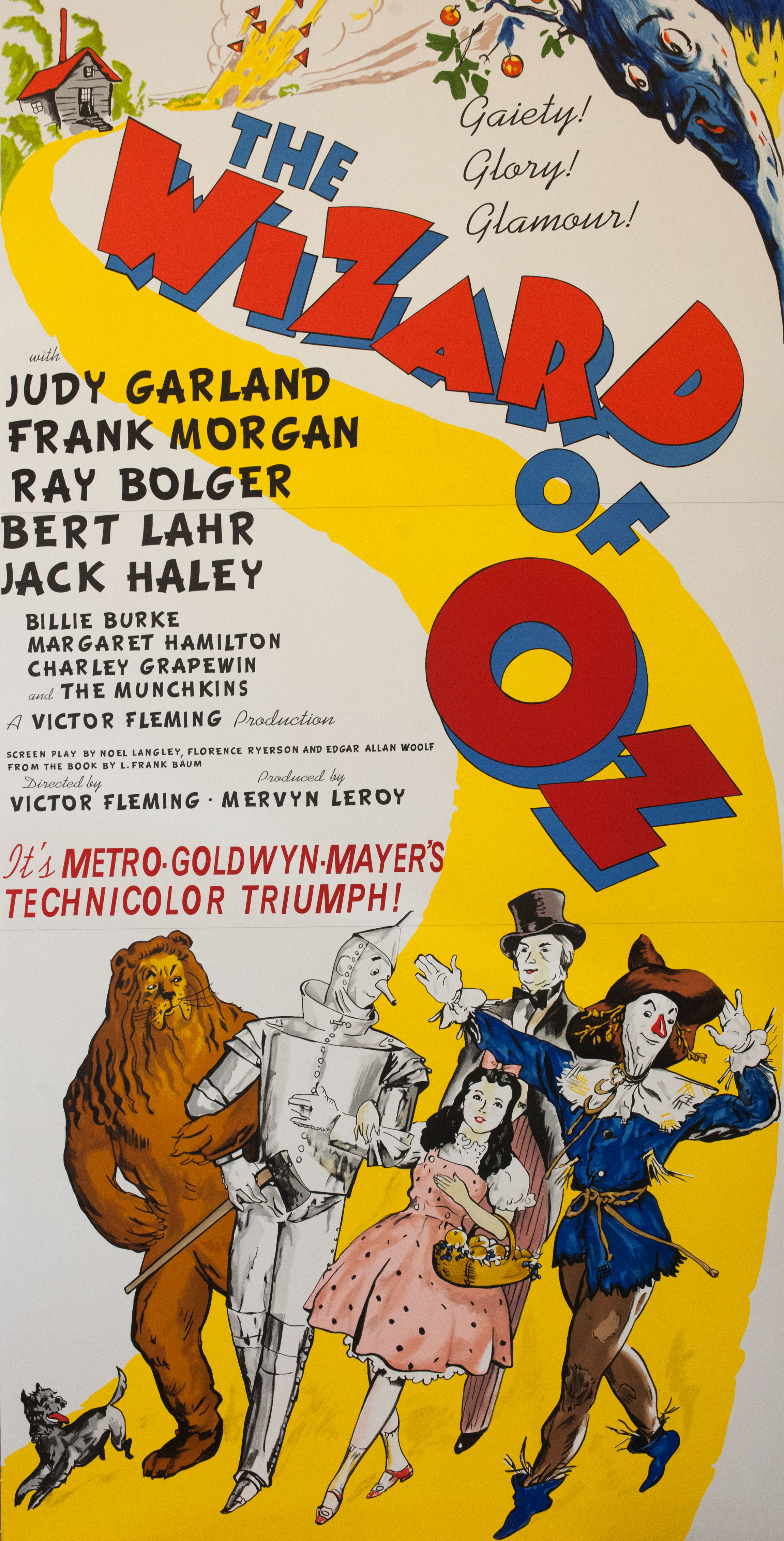 Dorothy Toto Tin Man Scarecrow Cowardly Lion Judy Garland The Wizard of Oz classic movie poster vintage movie poster fine art lithograph one-sheet golden age of film