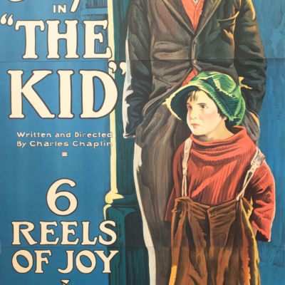 Charlie Chaplin The Kid classic movie poster vintage movie poster fine art lithograph one-sheet golden age of film