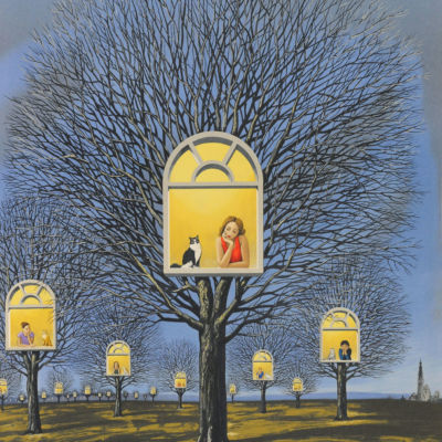 Rafal Olbinski Polish Poster surrealist surrealism fine art print 0dreamscape trees window