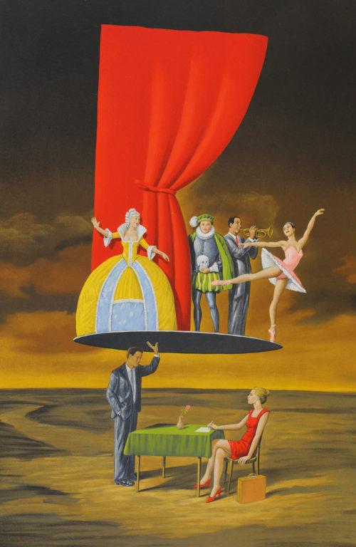 Rafal Olbinski Polish Poster surrealist surrealism dreamscape theatre curtain opera