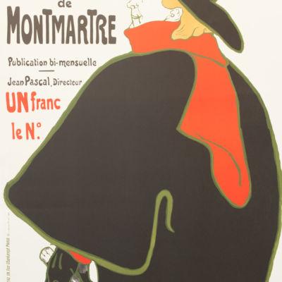 Les Chansonniers de Montemartre, Henri de Toulouse-Lautrec Belle Epoque vintage poster cabaret moulin rouge rue de provence paris librairie universelle