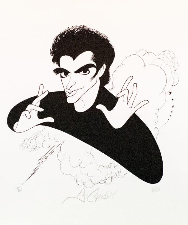Al Hirschfeld master of line new yorker cartoon celebrity art David Copperfield magician