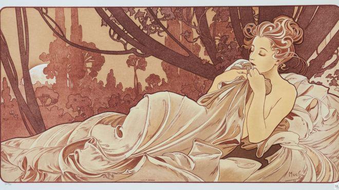 Dusk, Alphonse Mucha