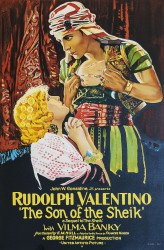 Rudolph Valentino Son of the Sheik classic movie poster vintage movie poster fine art lithograph one-sheet golden age of film