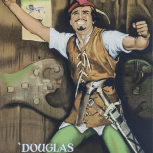 Douglas Fairbanks Robin Hood classic movie poster vintage movie poster fine art lithograph one-sheet golden age of film