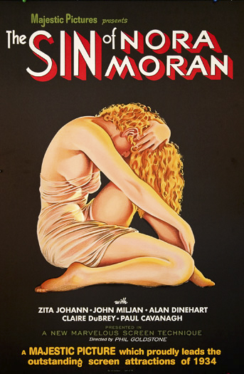 The Sin of Nora Moran Zita Johann John Miljan Alan Dinehart Claire Dubrey Paul Cavanagh classic movie poster vintage movie poster fine art lithograph one-sheet golden age of film