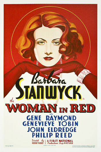 Barbara Stanwyck The Woman in Red Gene Raymond genevieve Tobin john Edredge philip reed