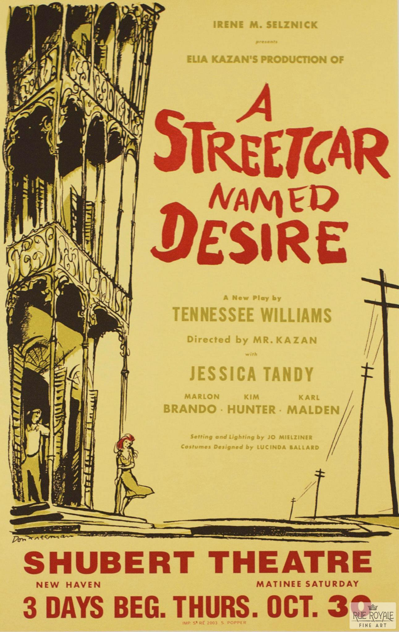 Tennessee Williams, Streetcar named desire, Marlon Brando, Jessica Tandy