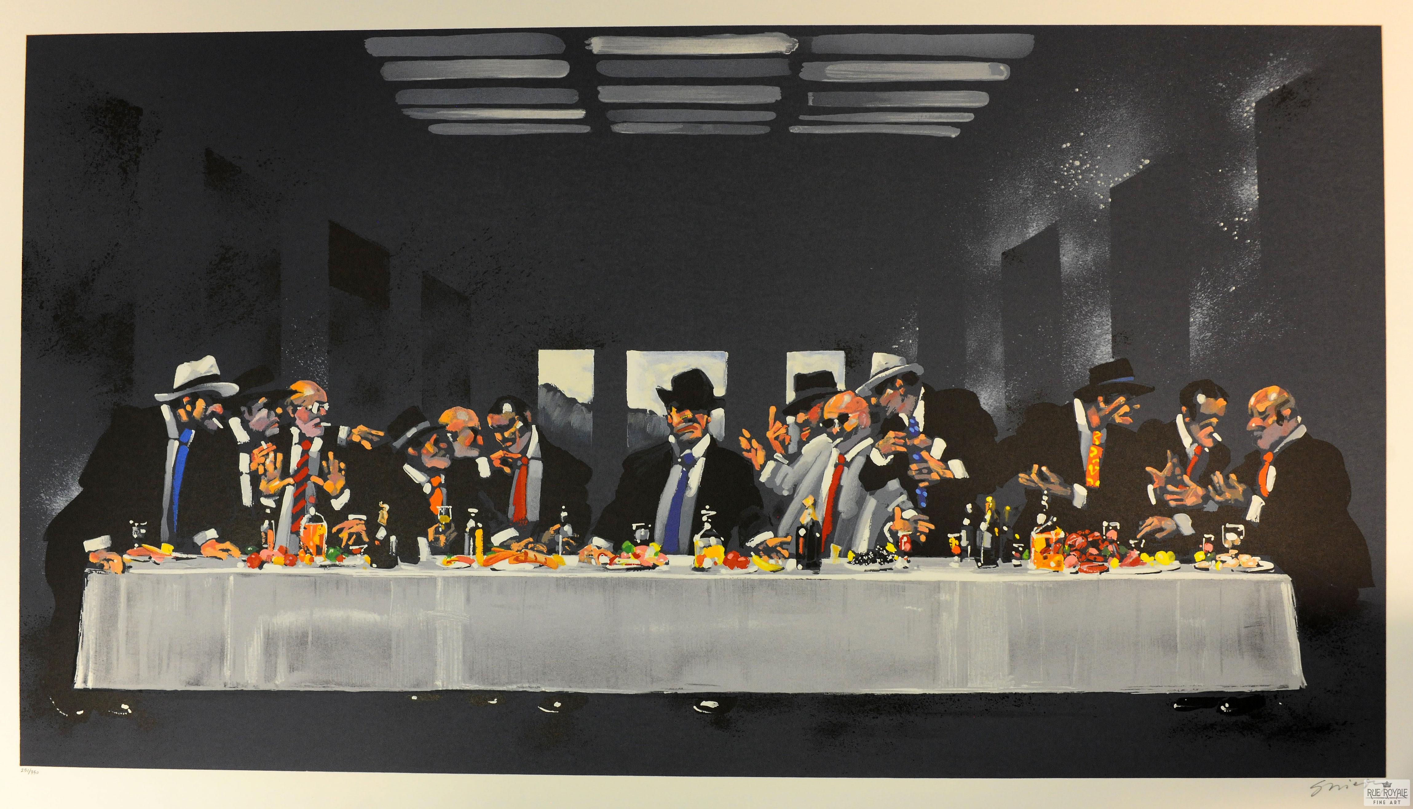 Waldemar Swierzy Gangster Art Fine Art Lithograph The last supper dinner