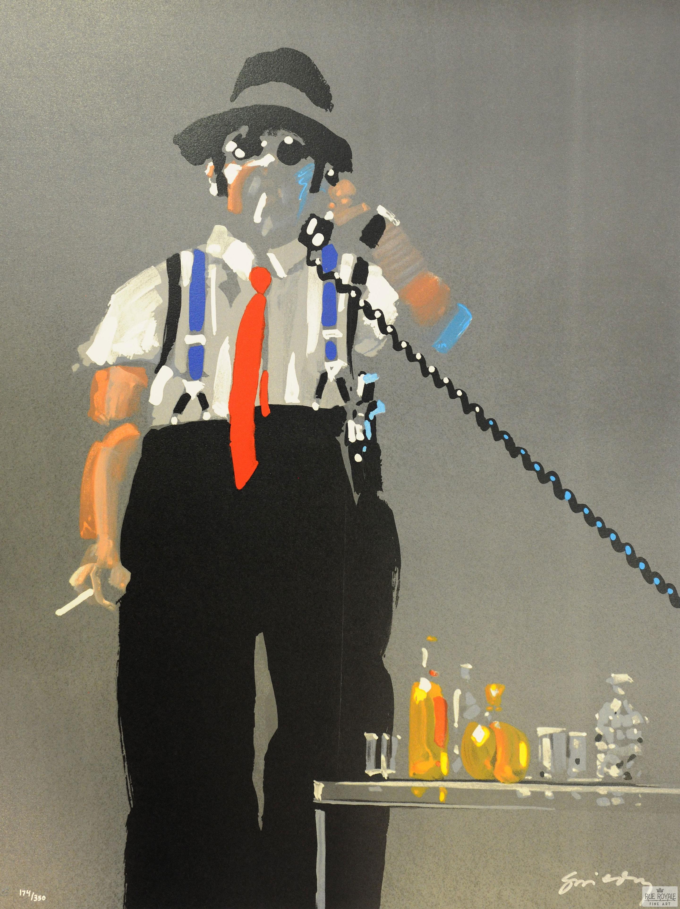 Waldemar Swierzy Gangster Art Fine Art Lithograph