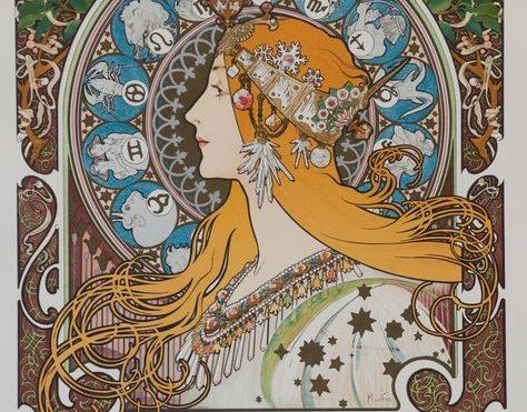 Zodiaque Var. 5  (blank),  Alphonse Mucha