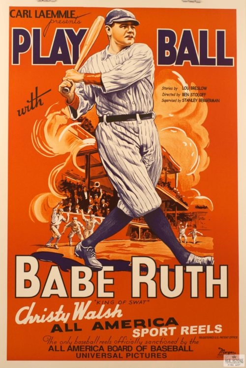 carl leammle babe ruth baseball legend vintage movie poster original classic movie poster golden age of hollywood vintage one-sheet