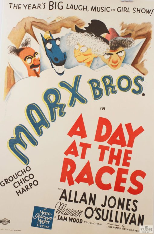 Marx Bros Brothers A Day at the Races Classic movie poster vintage movie poster fine art film vintage poster