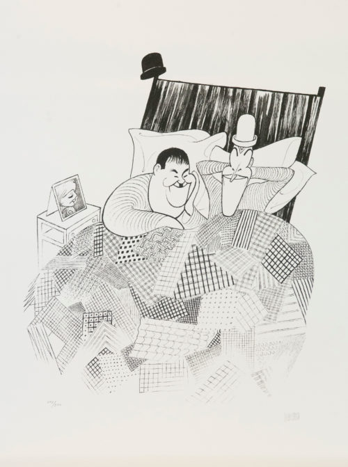 Al Hirschfeld master of line new yorker cartoon celebrity art Laurel and Hardy