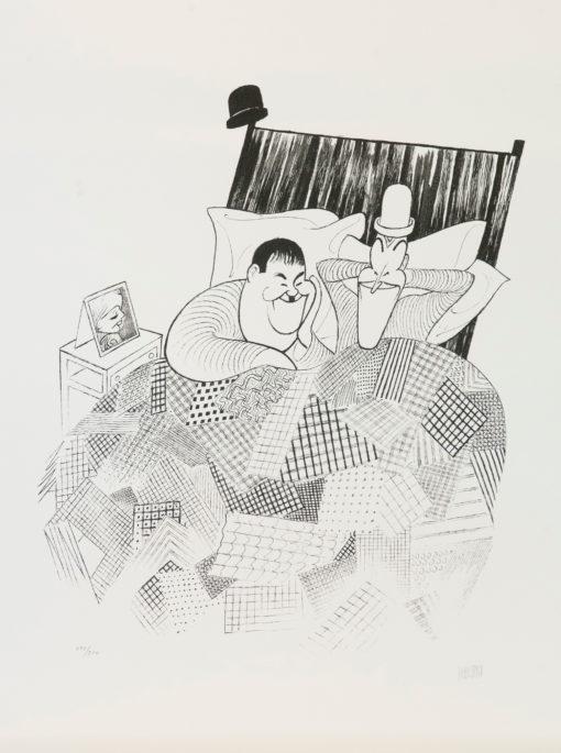 Al Hirschfeld master of line new yorker cartoon celebrity art Laurel and Hardy