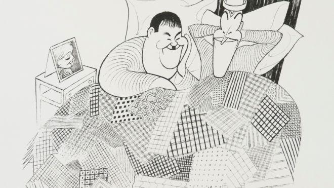 Laurel and Hardy, Al Hirschfeld
