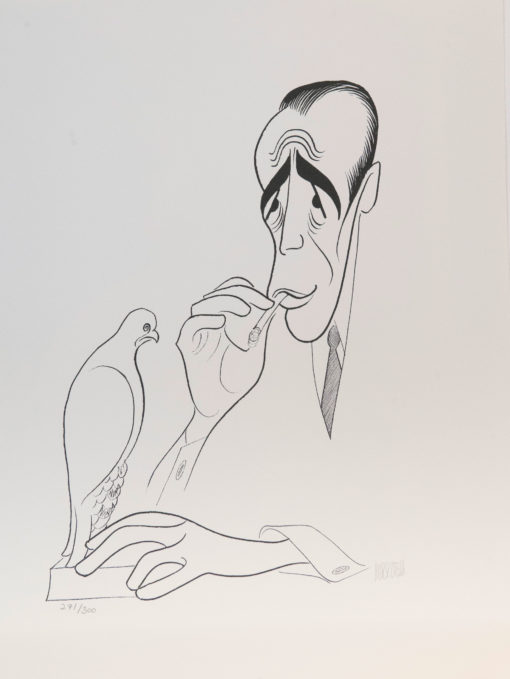 Al Hirschfeld master of line new yorker cartoon celebrity art Humphrey Bogart Maltese Falcon