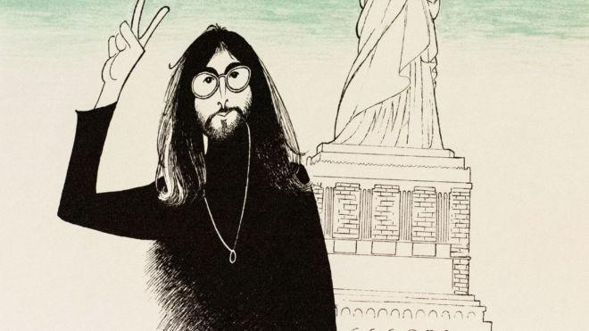 John Lennon (Statue of Liberty),  Al Hirschfeld