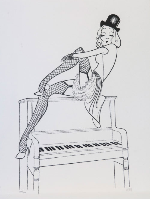Al Hirschfeld master of line new yorker cartoon celebrity art Marlene Dietrich Lily Marlene Piano Chanteuse