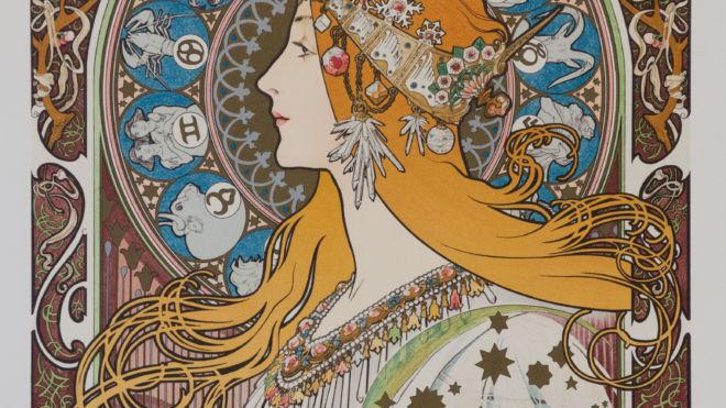 Zodiaque Var. 6 (w/text), Alphonse Mucha