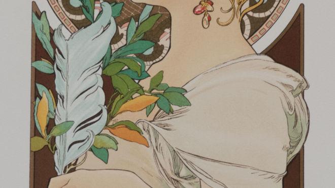 La Primevere et la Plume Var.2, Alphonse Mucha