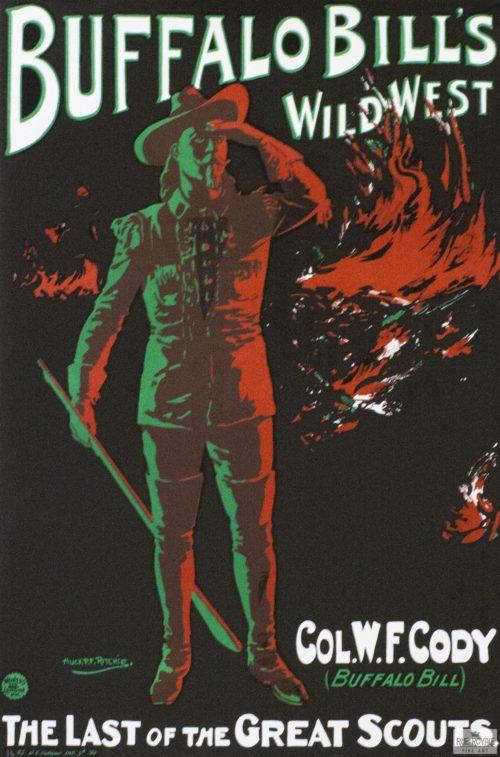 vintage cowboy show poster fine art lithograph