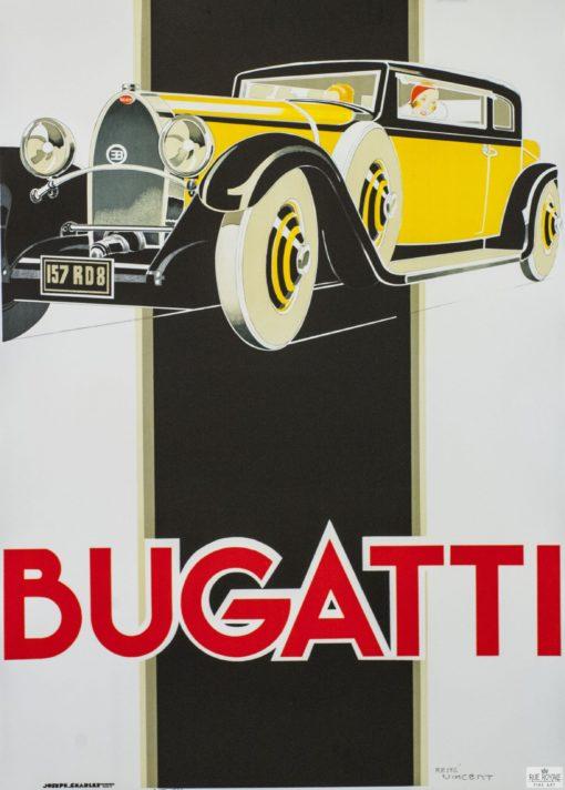 Bugatti vintage poster fine art lithograph