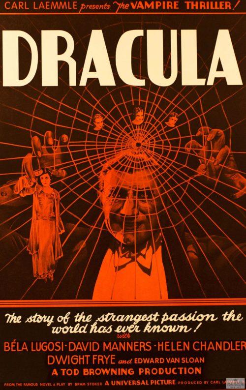 Dracula Bela Lugosi Carl Laemmle Classic movie poster scary movie poster vintage movie poster fine art film vintage poster