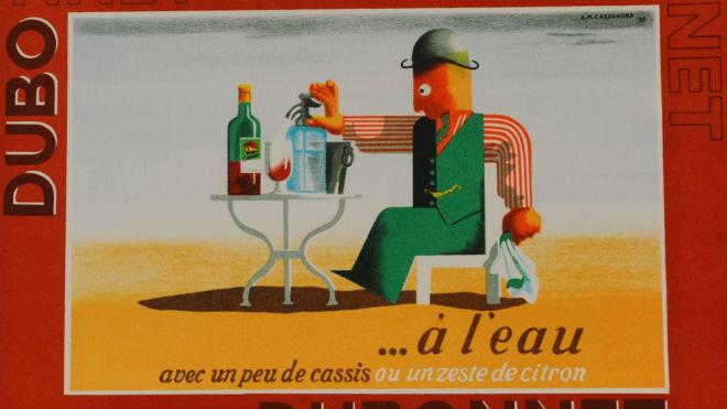 Dubonnet ... A Leau (1935) by A.M. Cassandre