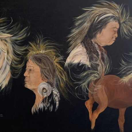 Horses and Chiefs - Acrylic On Canvas