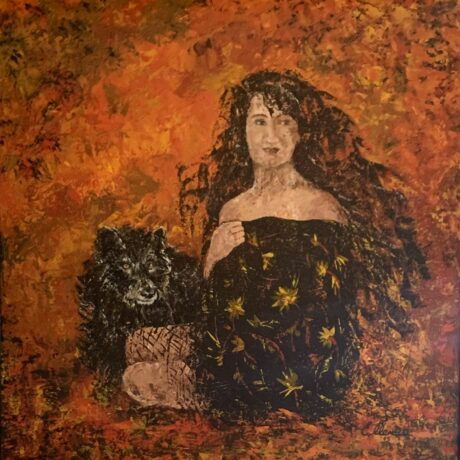 Woman and Wolf - Acrylic on canvas
