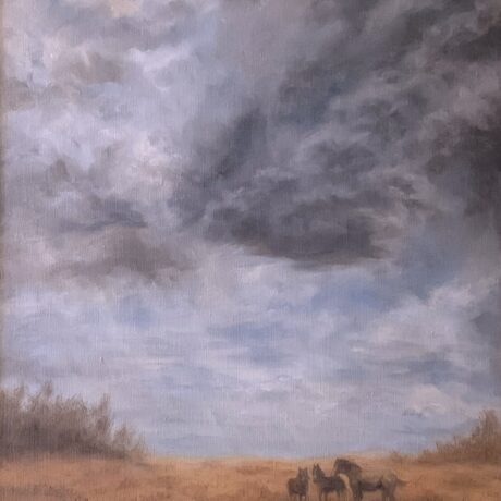 Prairie Storm - Oil on canvas
