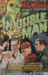 H. G. Wells The Invisible Man Gloria Stuart Claude Rains Universal Picture Carl Laemmle vintage movie poster fine art lithograph