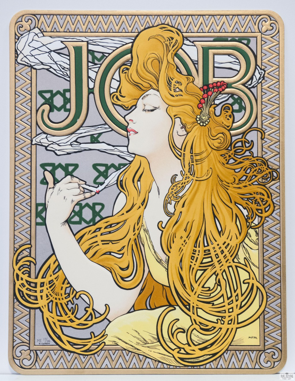 blond hair art nouveau alphonse much job cherry barrett