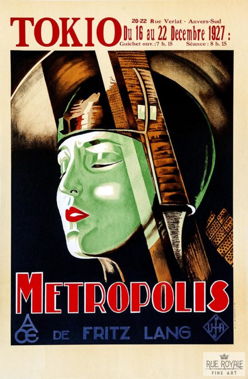 Fritz Lang Metropolis classic movie poster vintage movie poster fine art lithograph one-sheet golden age of film