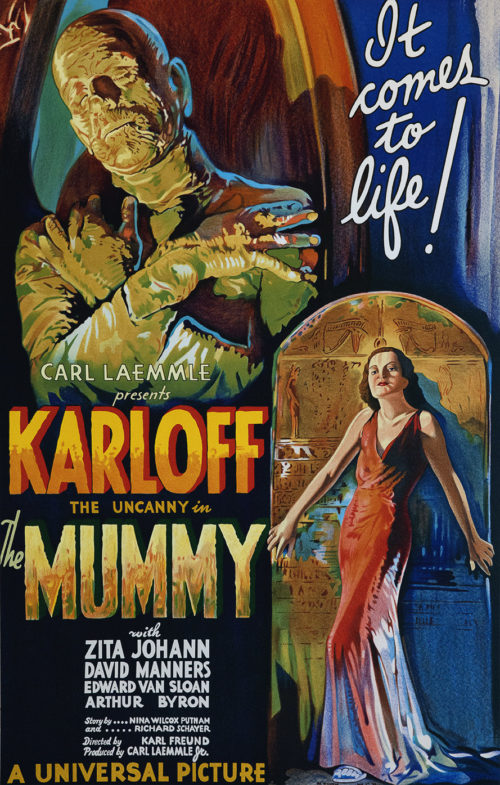 Boris Karloff The Mummy carl laemmle classic movie poster vintage movie poster fine art lithograph one-sheet golden age of film