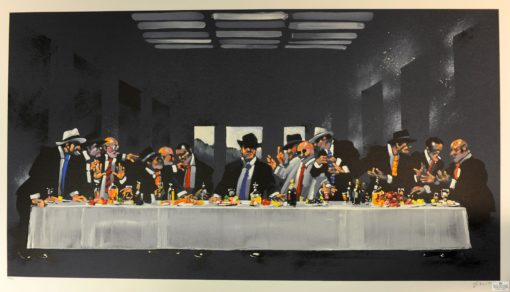 Waldemar Swierzy Gangster Art Fine Art Lithograph The last supper dinner
